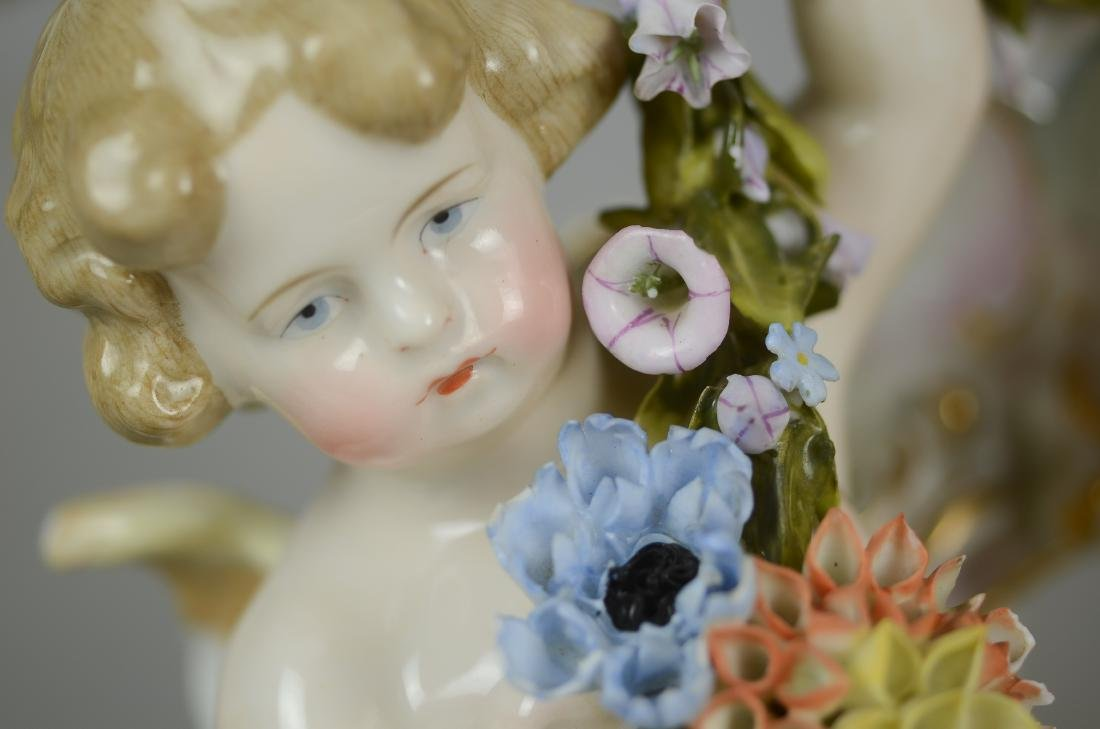 4-Piece porcelain wall hanging with cherubs - 2