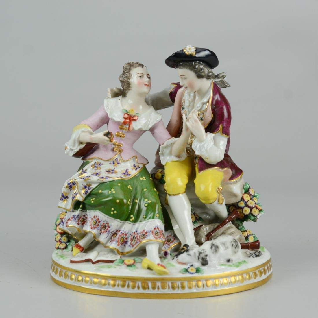German porcelain courting couple figurine
