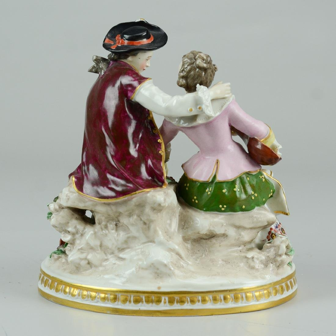 German porcelain courting couple figurine - 2