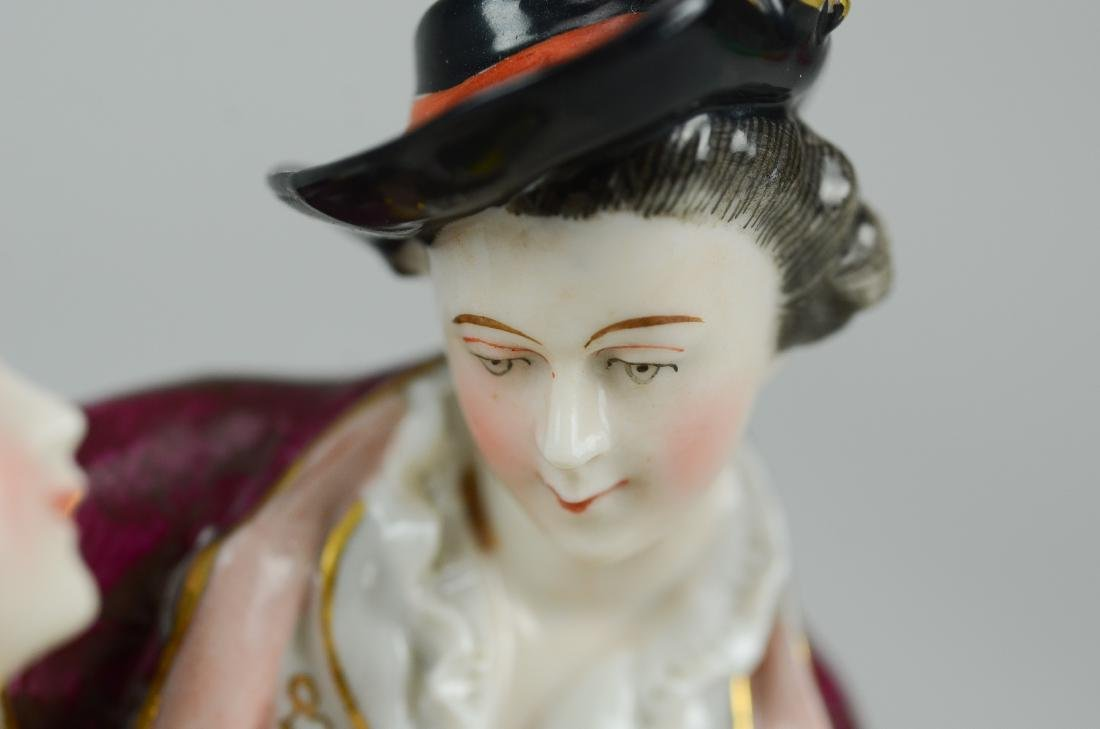 German porcelain courting couple figurine - 3