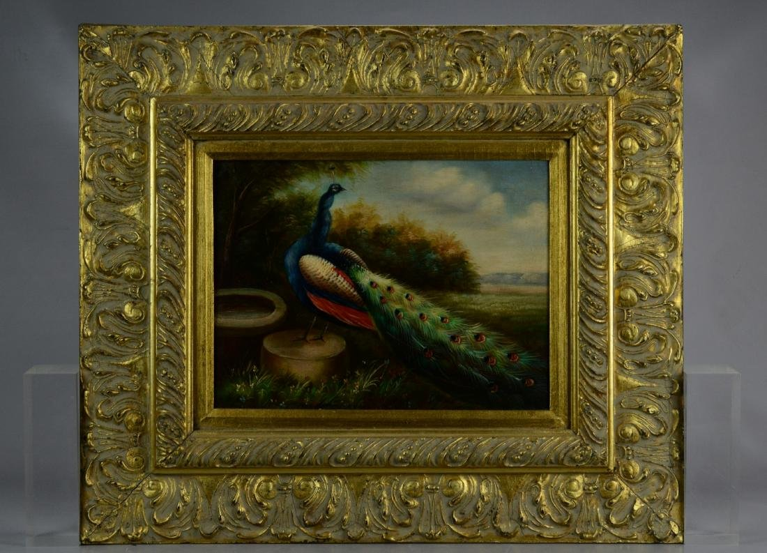 Contemporary painting of a peacock - 2