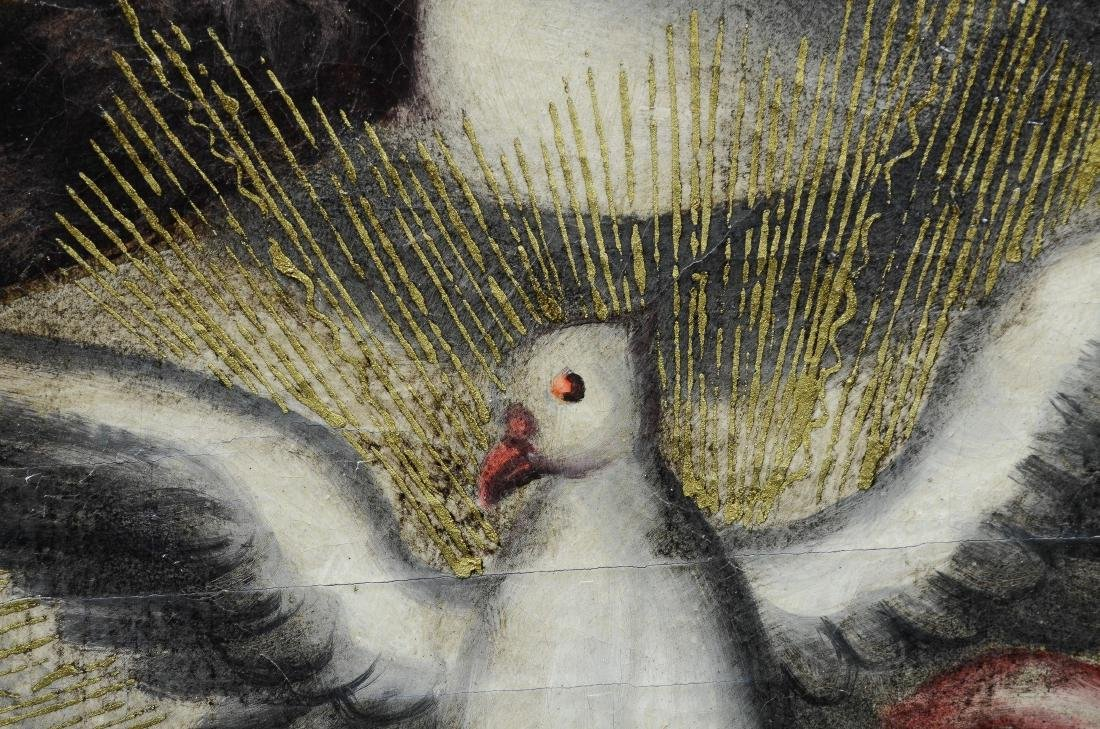 Contemporary painting of Jesus holding a dove - 3