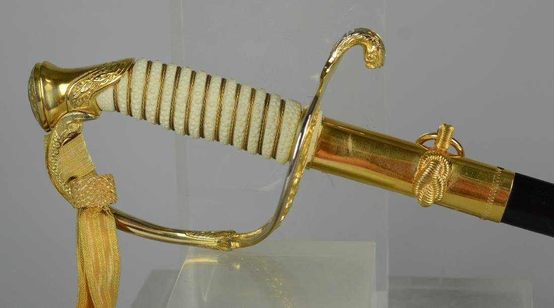 Gemsco Naval sword with scabbard & case - 2