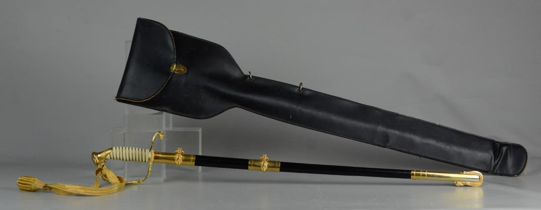 Gemsco Naval sword with scabbard & case - 3