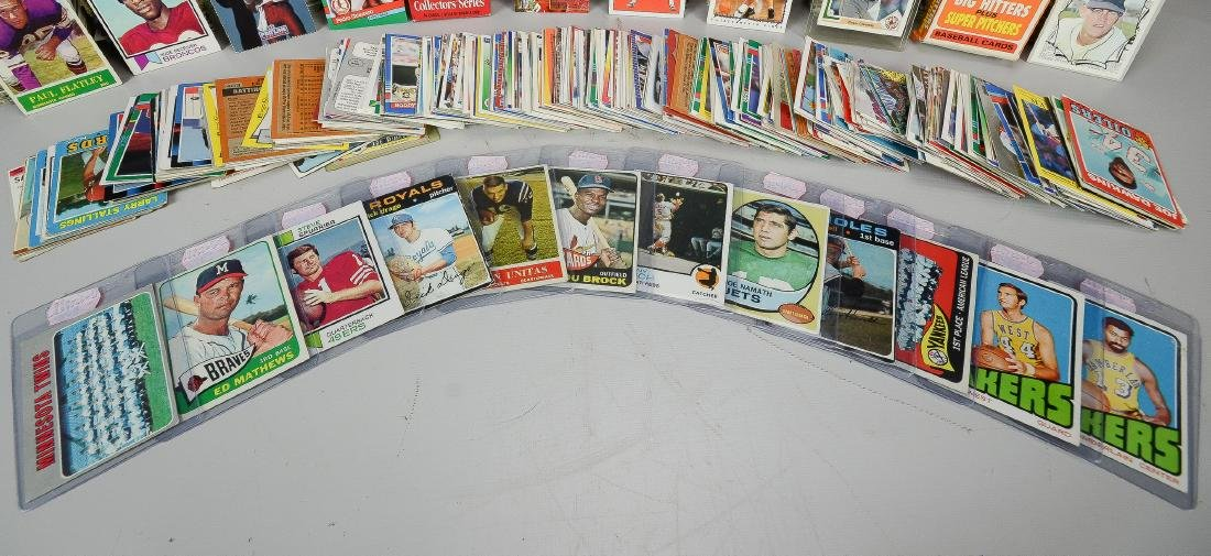 Variety of primarily 1960s & 1970s sport cards, - 2