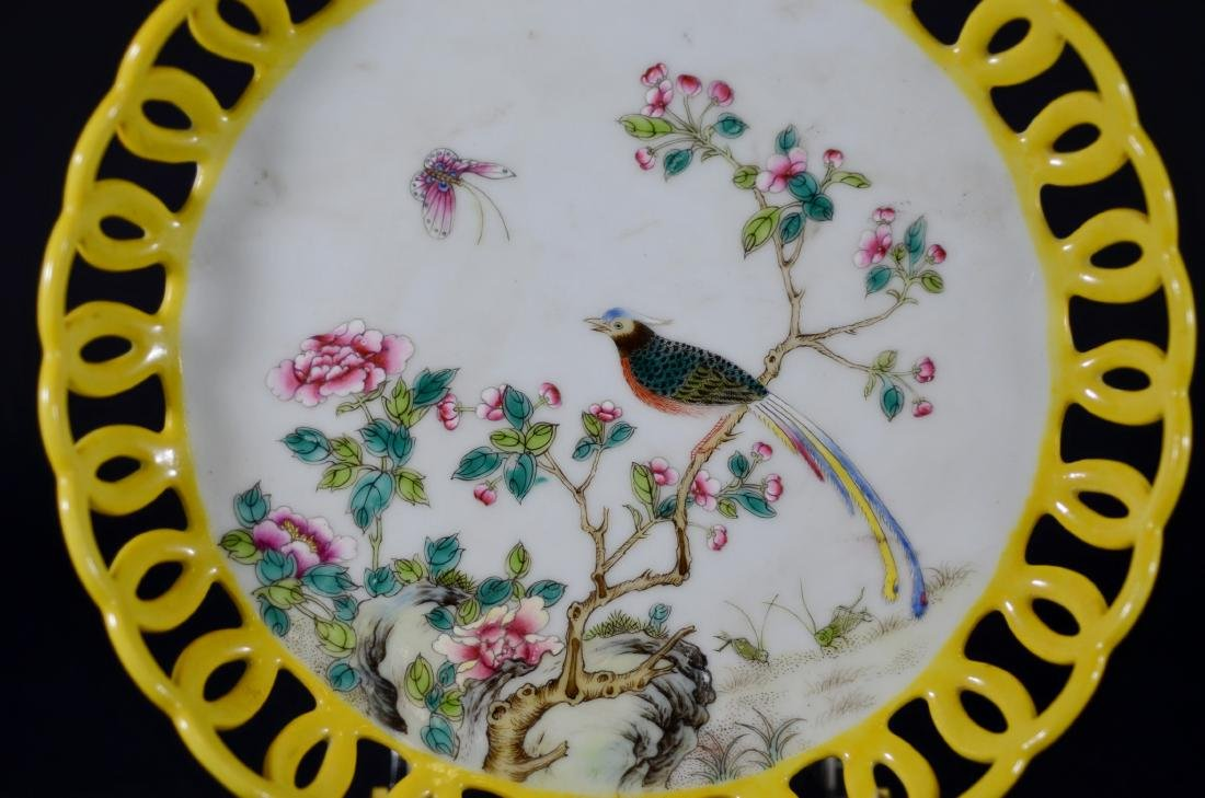 Chinese porcelain Famille Rose shallow bowl - 2