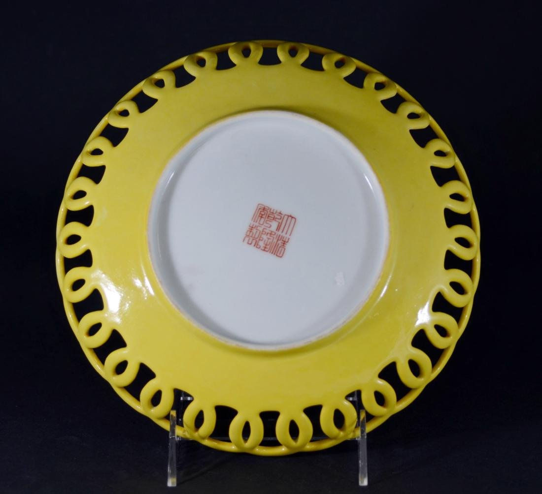Chinese porcelain Famille Rose shallow bowl - 3