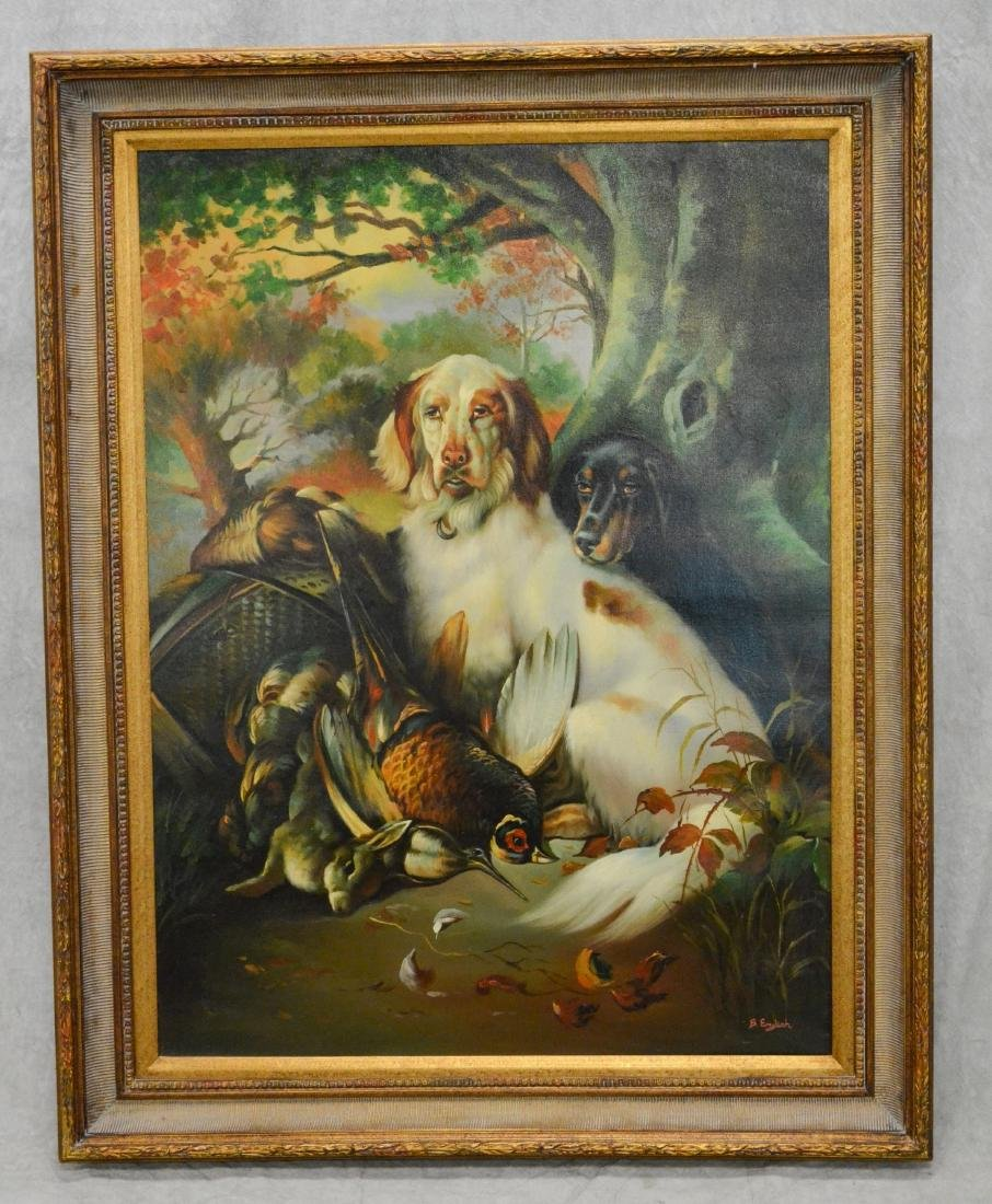 Contemporary painting of two hunting dogs - 2