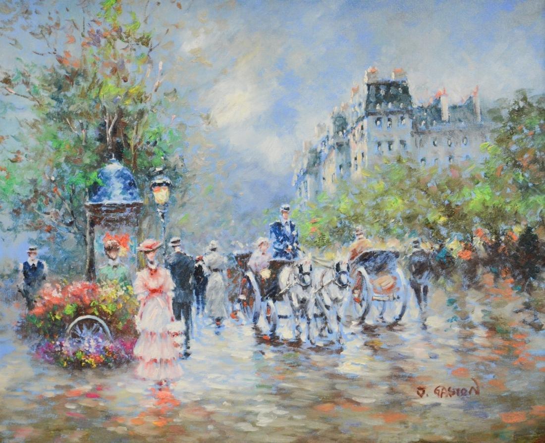 Contemporary painting of a Paris street scene