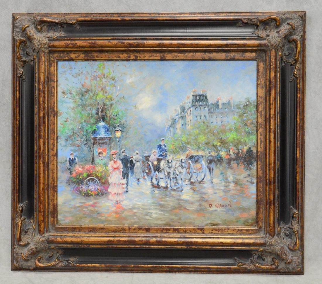Contemporary painting of a Paris street scene - 2