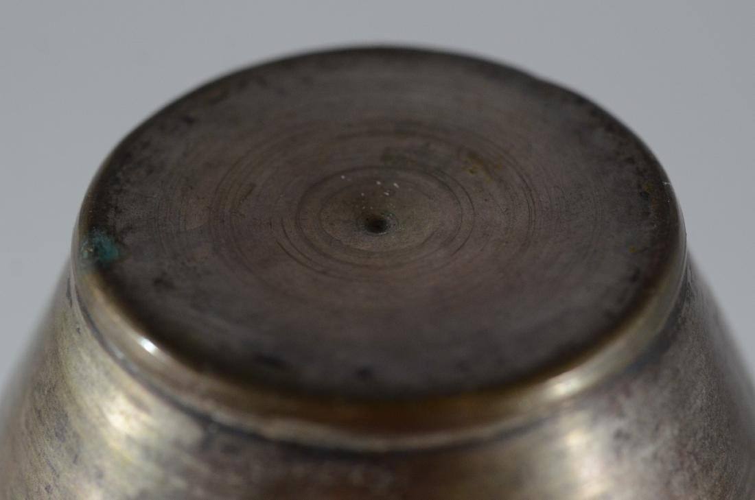 (3) Pieces:  Pr Persian silvered copper vases - 6