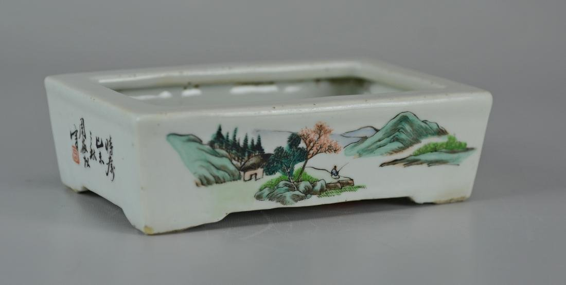 Chinese porcelain shallow planter