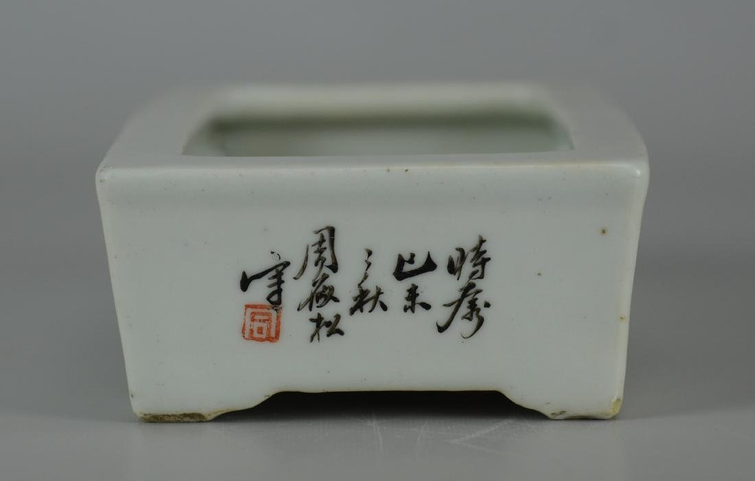 Chinese porcelain shallow planter - 3