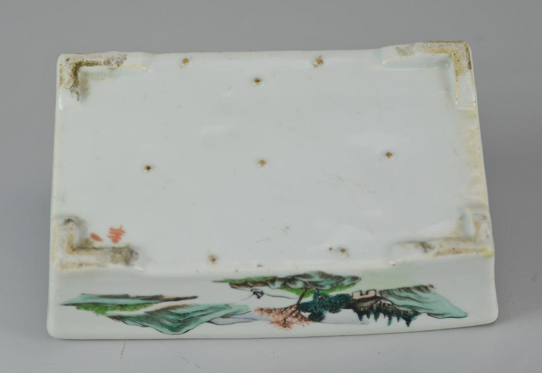 Chinese porcelain shallow planter - 6