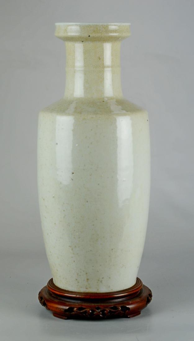 Chinese crackle glaze Rouleau vase