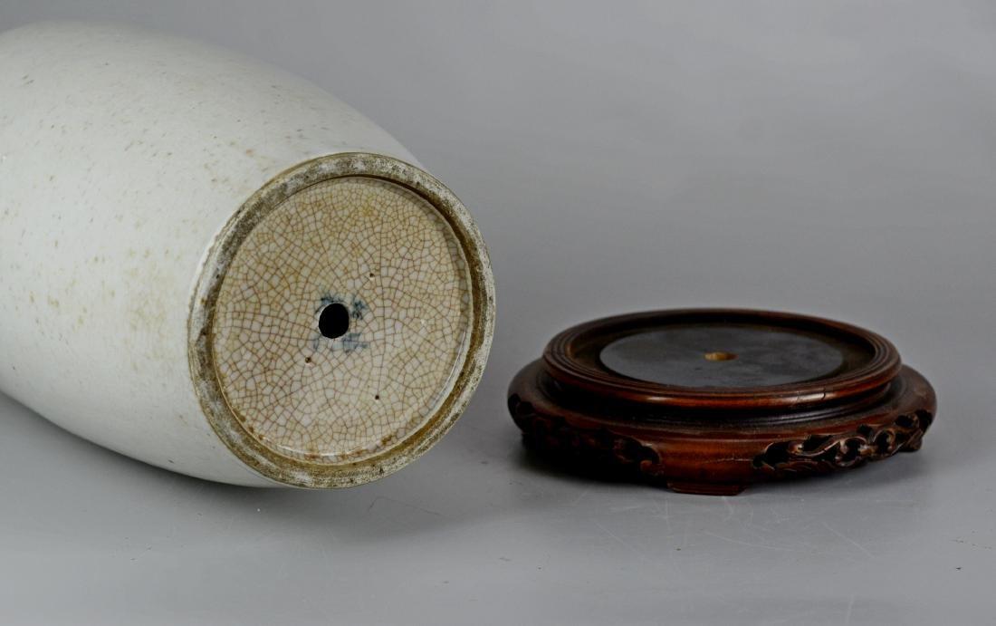 Chinese crackle glaze Rouleau vase - 3