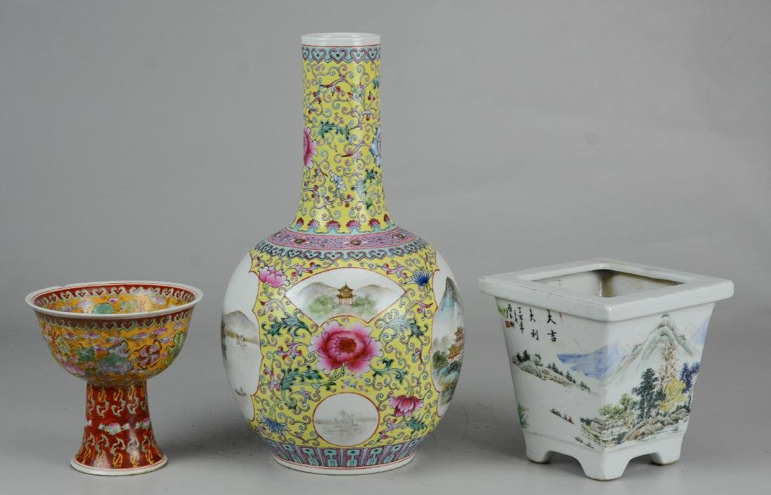 (3) Pcs Chinese porcelain