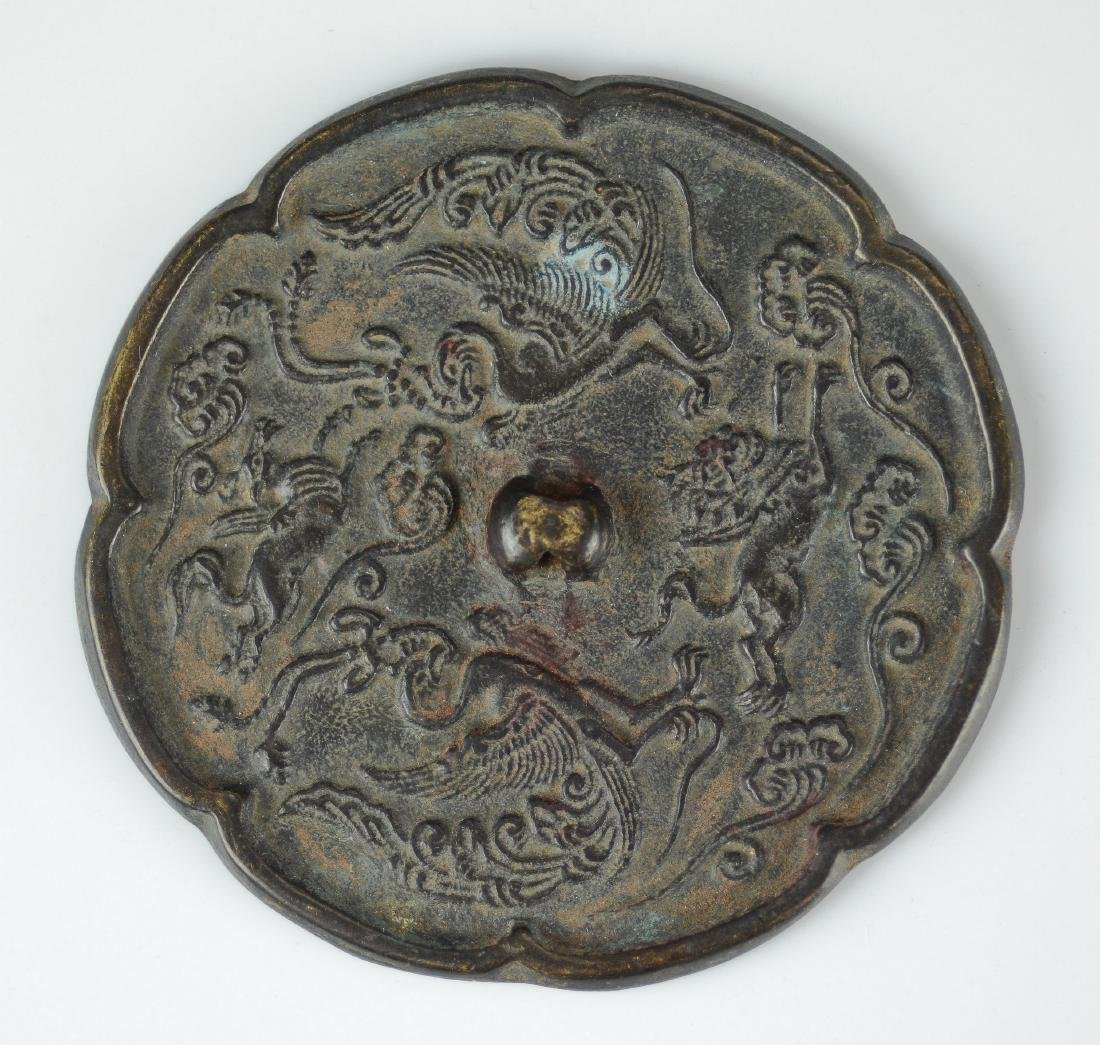 (2) Archaic style bronze mirrors - 2