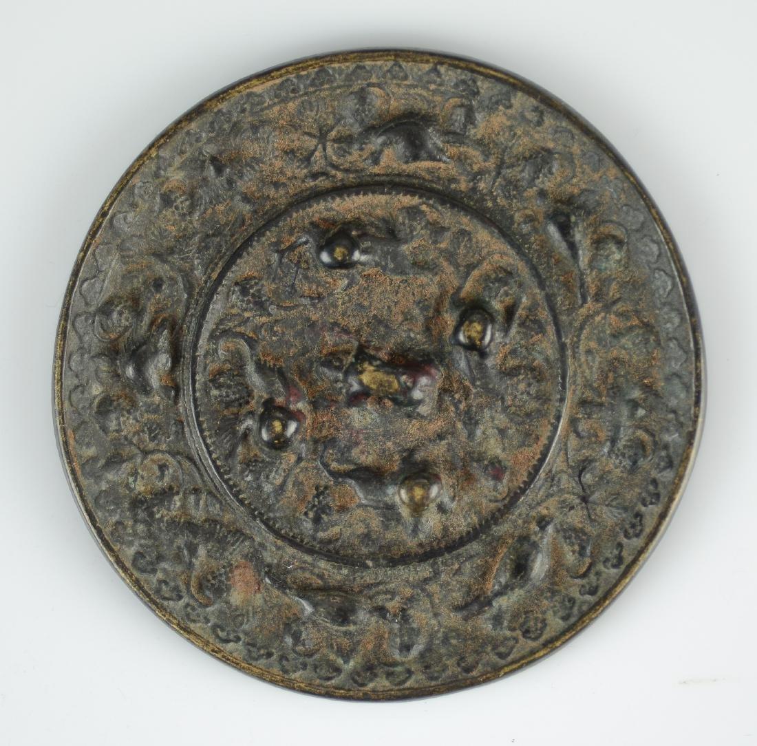 (2) Archaic style bronze mirrors - 3
