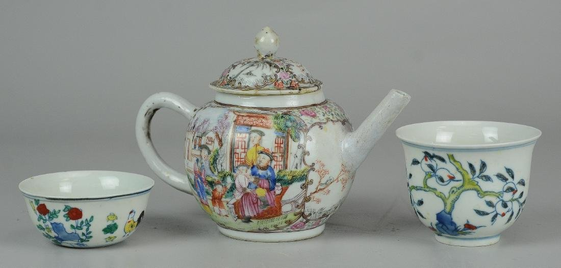 (3) Pcs Chinese porcelain