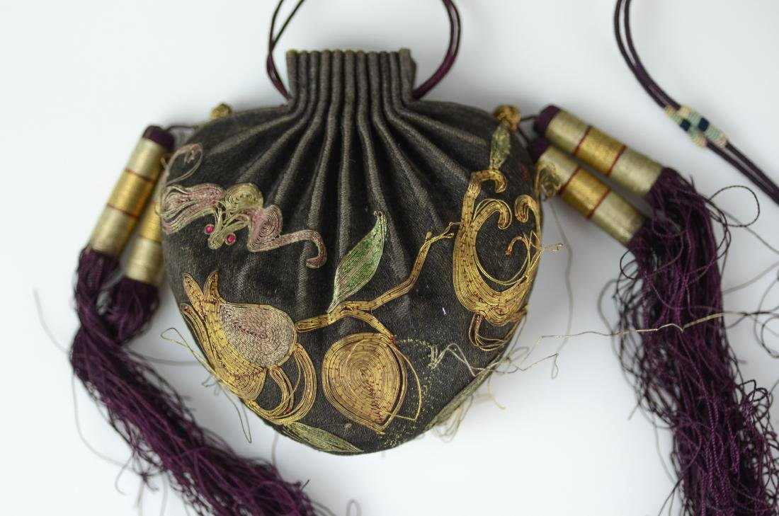 (2) Chinese embroidered purses - 2