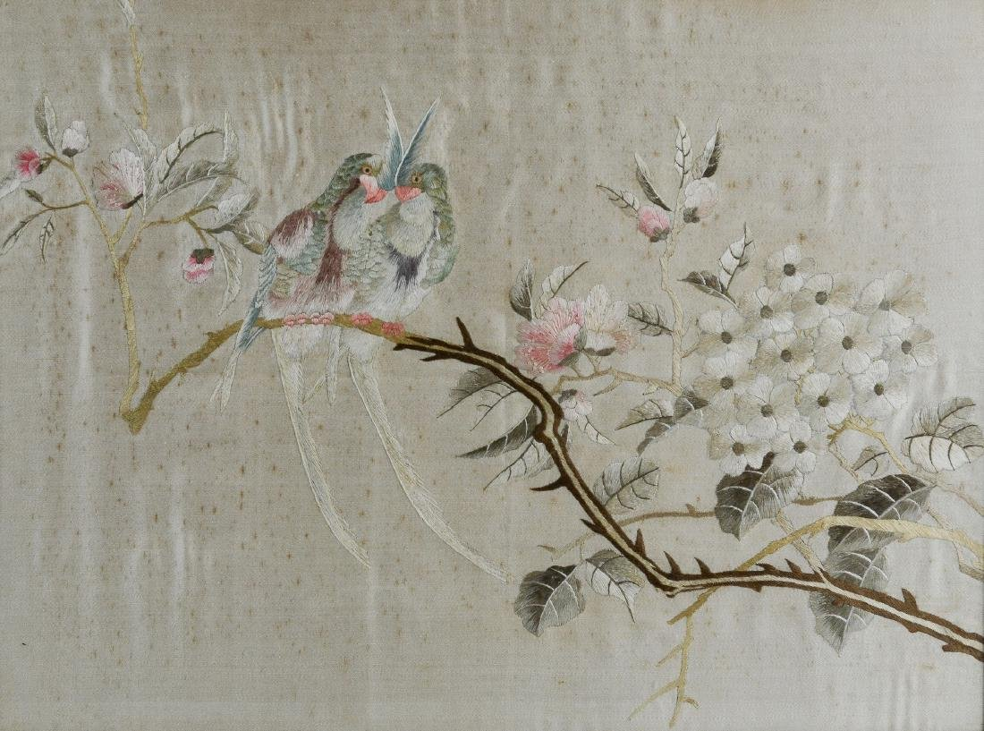 Pr Chinese embroidered panels - 2