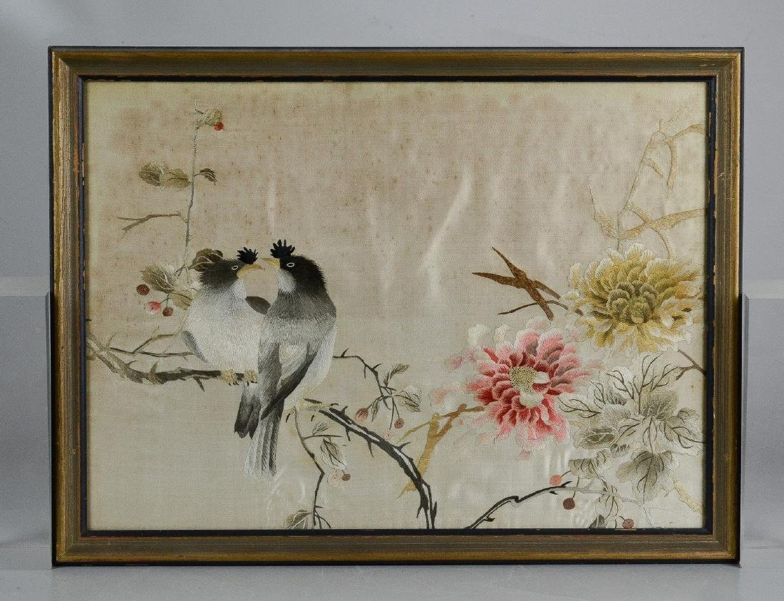Pr Chinese embroidered panels - 6