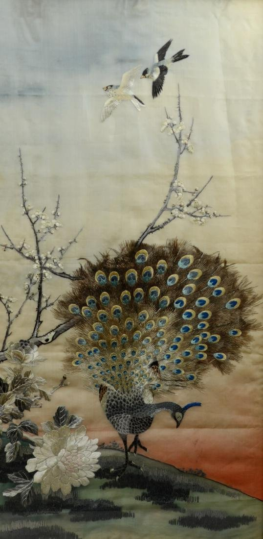 Asian embroidered panel