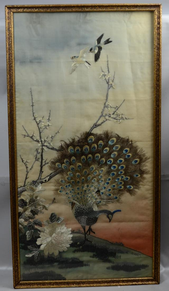 Asian embroidered panel - 2