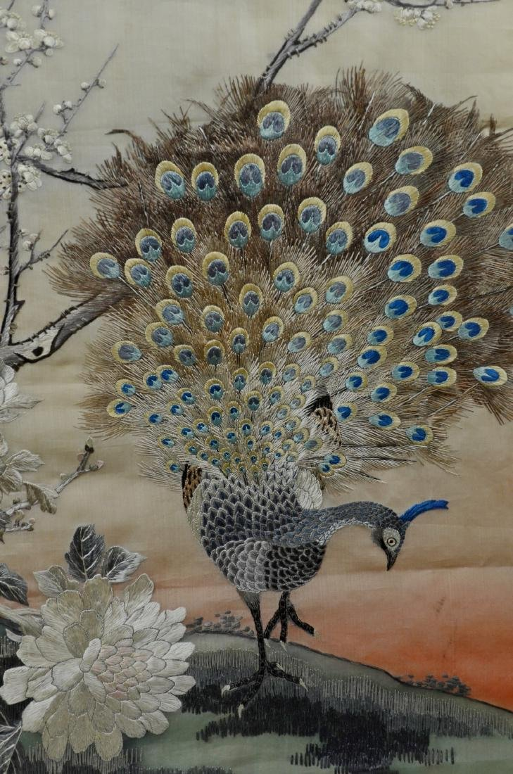 Asian embroidered panel - 3