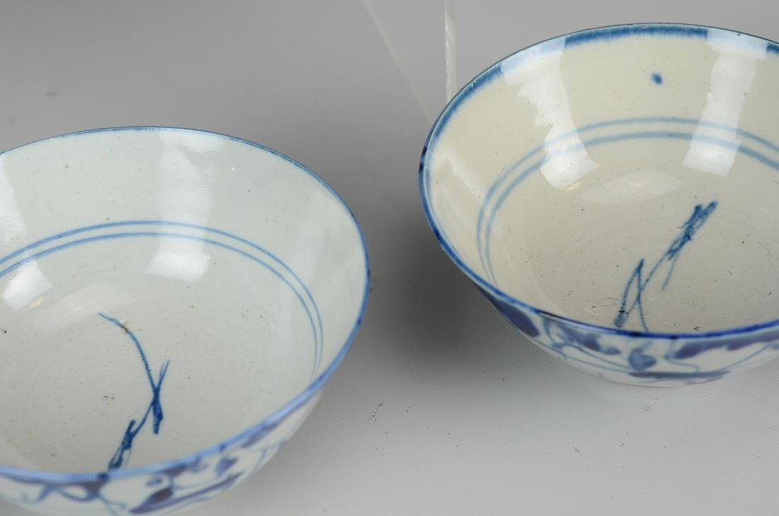 (5) Chinese blue and white bowls - 2
