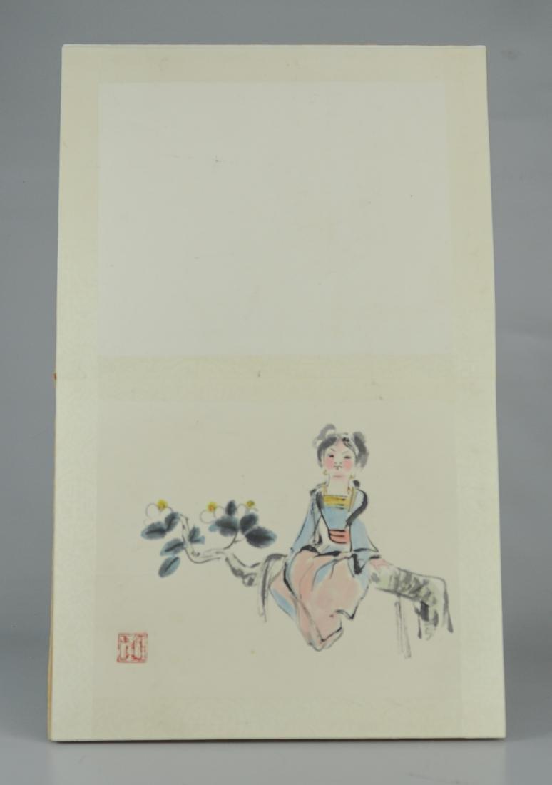Book of 8 Asian watercolors, women - 3