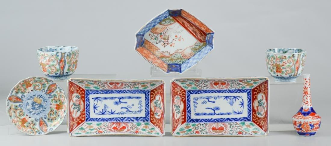 (4) Japanese Imari covered rice bowls - 2