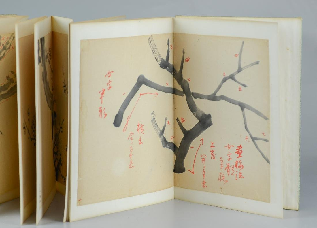 Bound book of 17 Asian Sumi drawings - 2