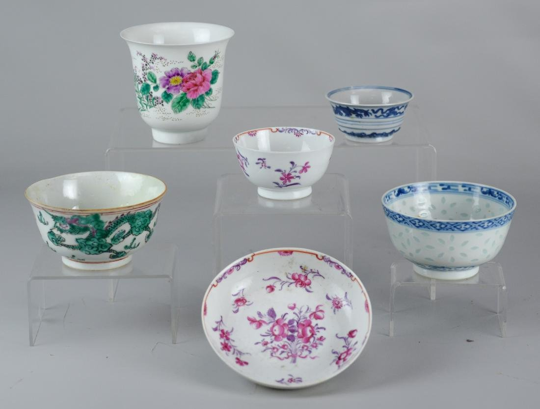 (6) pcs Chinese porcelain