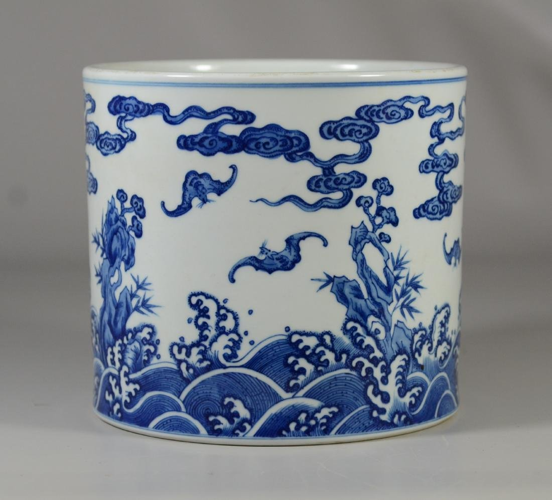 Chinese blue and white jar - 6