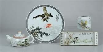 (4) pcs Chinese porcelain