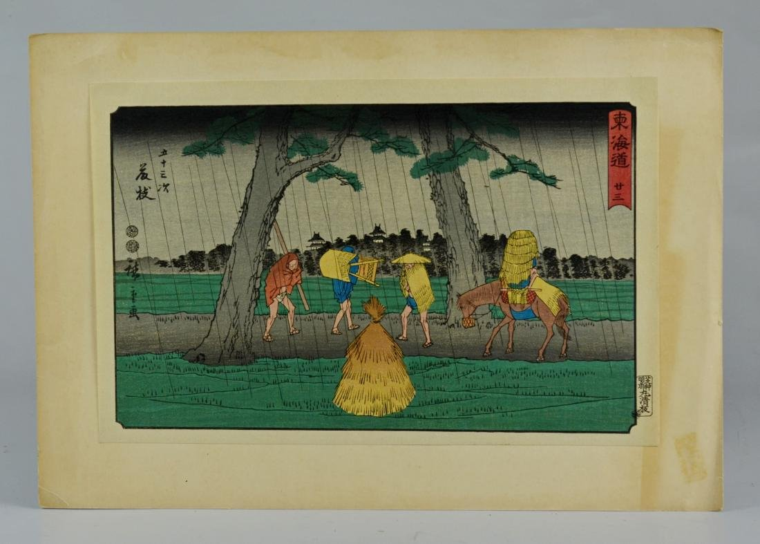 (11) Japanese woodblock prints, unframed - 7