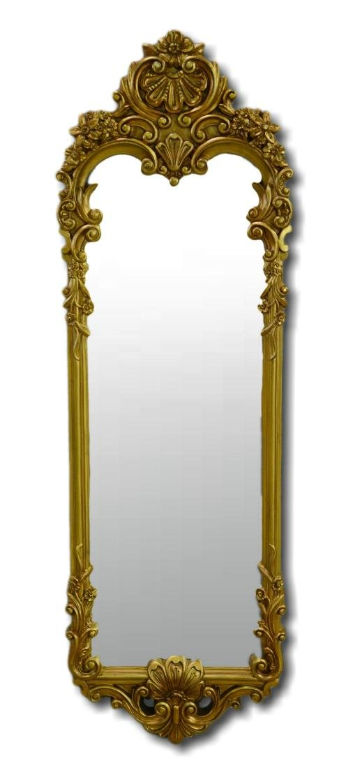 French style gilt carved pier mirror