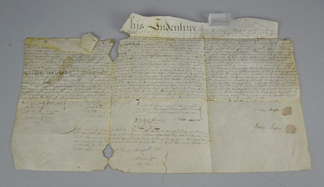 Indenture dated August 1808 for the purchase of land
