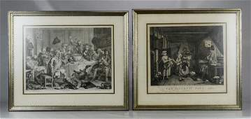 William Hogarth British 16971764 2 engravings