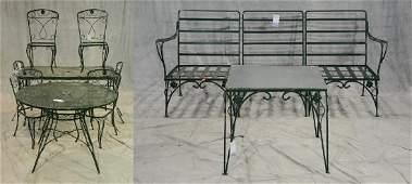 10 pcs Salterini style iron leaf form patio Furniture