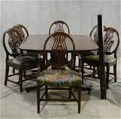 7 pc Custom Mahogany Dining Room Set