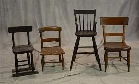 (4) 19th c children's chairs