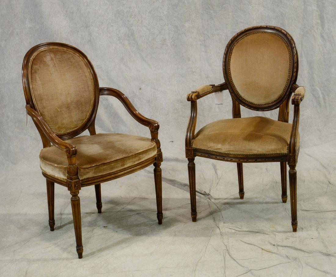 (2) Louis XVI style armchairs