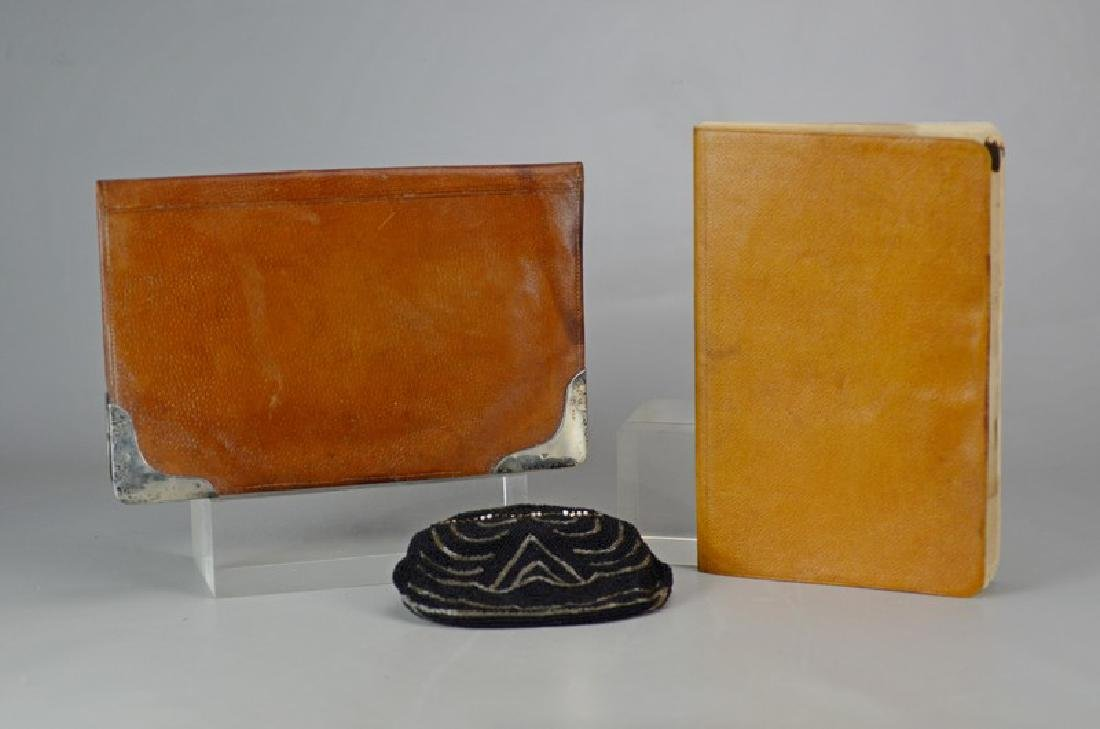 Leather & Sterling Silver Portfolio and Beaded Purse