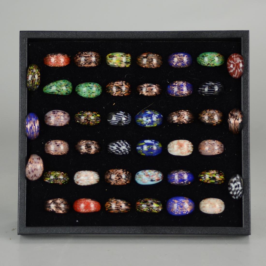 (42) Art Glass Rings