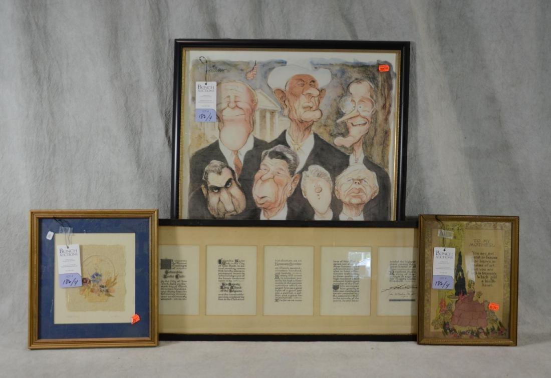 (4) pcs Framed art