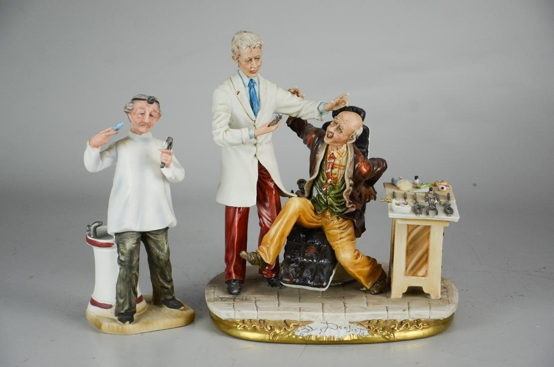 (2) Porcelain Dentist Figurines