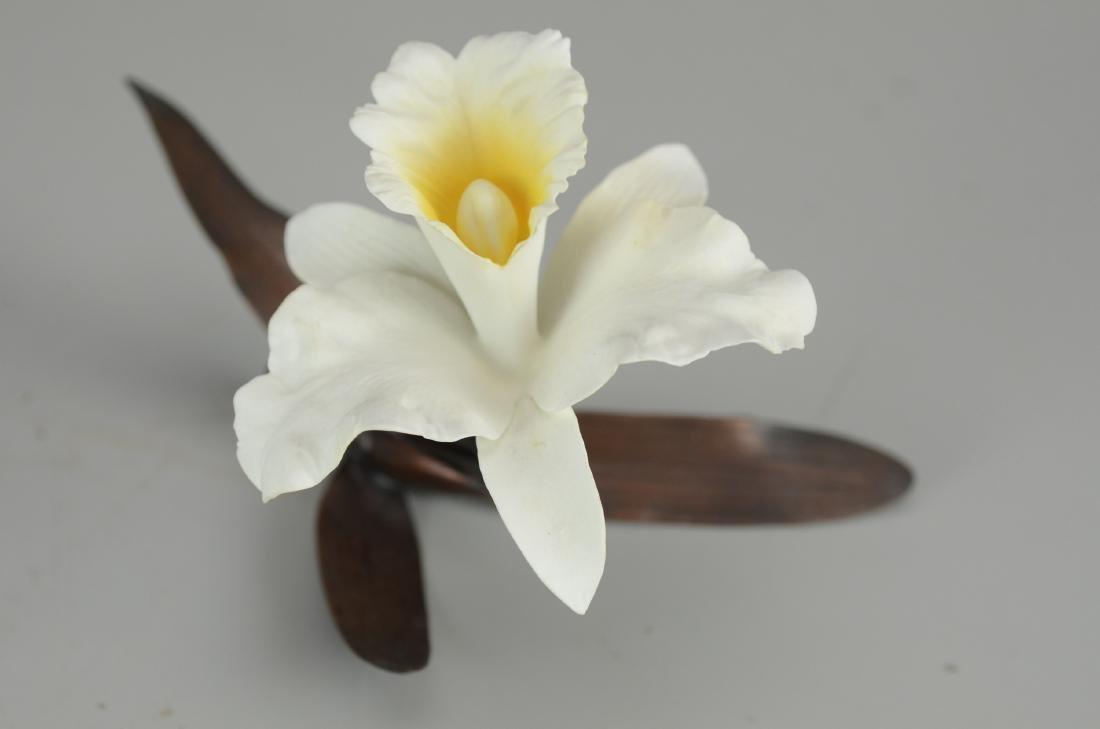 (2) Boehm Porcelain Orchid Figurines - 2